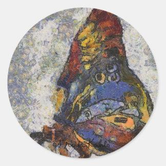 インスパイアフリーダ・カーロの蝶Monet ラウンドシール