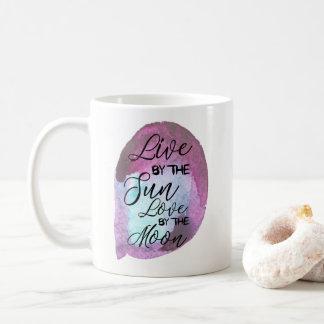 インスパイア月Bohoによって日曜日愛によって住んで下さい コーヒーマグカップ