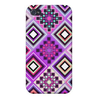 インスパイア紫色の先住民 iPhone 4/4S CASE