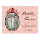 インスパイア誕生日の恵みの天使のヴィンテージ ポストカード