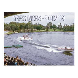 インスパイアCypressの庭水スキーショーのヴィンテージ ポストカード