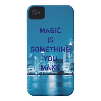 インスピレーションの希望の引用文都市夜背景 Case-Mate iPhone 4 ケース