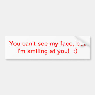 インスピレーションの微笑のバンパーステッカー バンパーステッカー