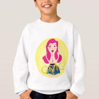 インスピレーションの絵: OMGの女の子 スウェットシャツ