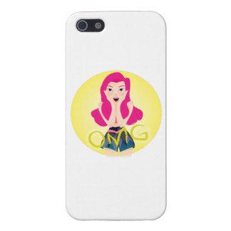 インスピレーションの絵: OMGの女の子 iPhone 5 カバー