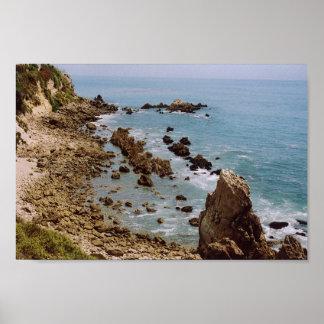 インスピレーションポイント、ニューポートビーチ、カリフォルニア ポスター