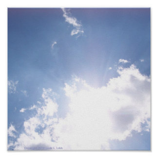 インスピレーションポスターの雲 プリント