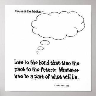 インスピレーション愛の雲はfuに過去を結びます ポスター