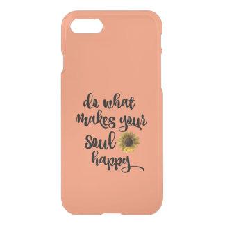 インスピレーション: あなたの精神を幸せにさせるものがして下さい iPhone 7ケース