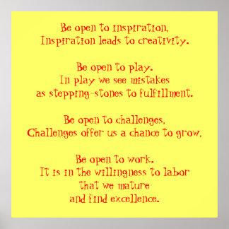 インスピレーション、インスピレーションに開いていて下さい導きますCrに…あって下さい プリント