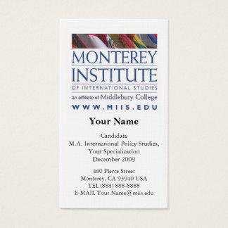 インターナショナルのモンテレーの協会はカードを調査します 名刺
