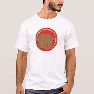 インターナショナルの保存は日の灰色グマに耐えます Tシャツ