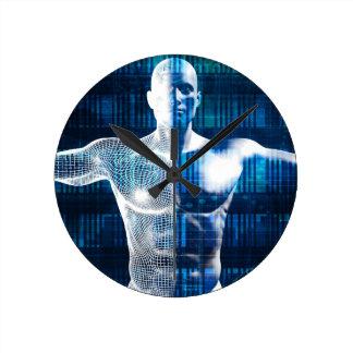 インターネットおよび無線電信上の技術ネットワーク ラウンド壁時計
