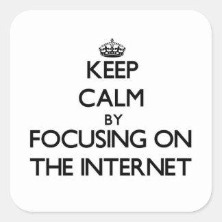 インターネットに焦点を合わせることによって平静を保って下さい スクエアシール