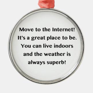 インターネットのギークに動かして下さい メタルオーナメント