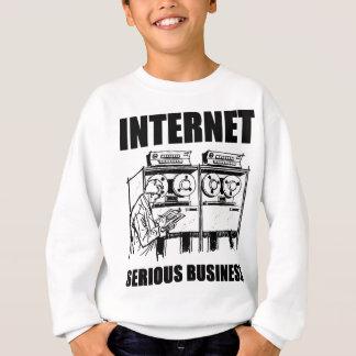 インターネットの深刻なビジネス スウェットシャツ