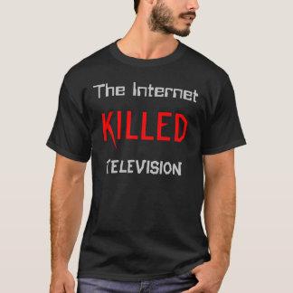 インターネットはテレビを殺しました Tシャツ