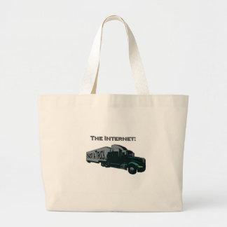 インターネットはトラックではないです ラージトートバッグ