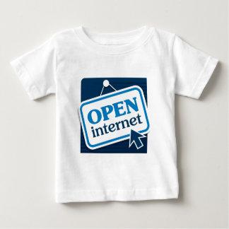 インターネットを開けて下さい ベビーTシャツ