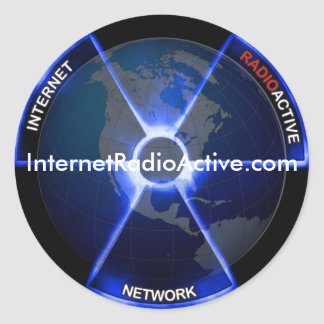 インターネット放射性ネットワークのステッカー ラウンドシール