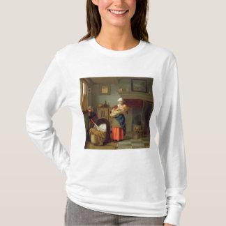 インテリアのベビーを持つNursemaid Tシャツ