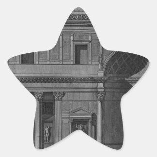 インテリアの部分のデモンストレーション 星シール