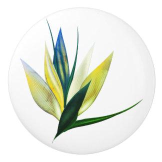インテリア・デザインのノブ: エキゾチックな花の芸術 セラミックノブ