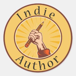 インディの作家の表紙の円形のステッカー ラウンドシール