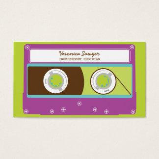 インディのMixtapesのレトロ80sカセットテープパターン 名刺