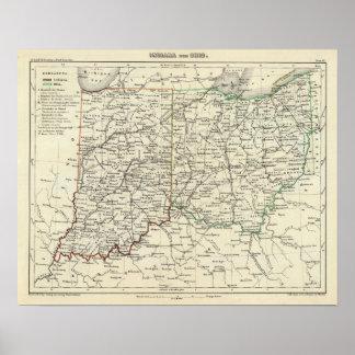 インディアナおよびオハイオ州 ポスター