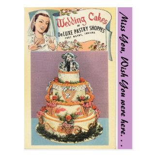 インディアナのウエディングケーキ、フォートウェイン ポストカード