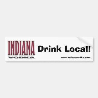 インディアナのウォッカ-飲み物のローカルバンパーステッカー バンパーステッカー