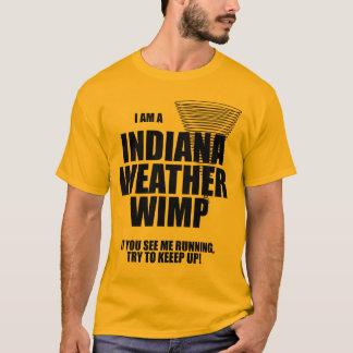 インディアナのトルネード天候の弱虫のTシャツ Tシャツ