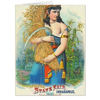 インディアナの国家公平な1886年 カード