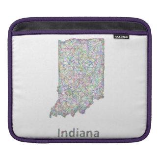 インディアナの地図 iPadスリーブ