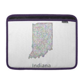 インディアナの地図 MacBook スリーブ