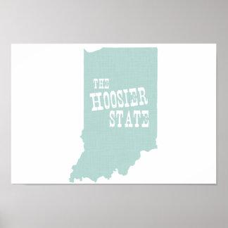 インディアナの州のニックネーム ポスター