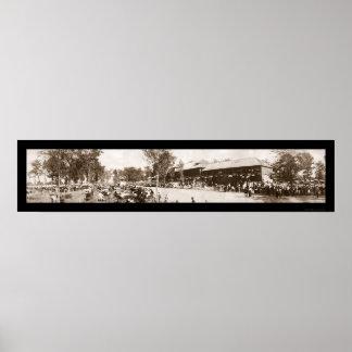 インディアナの州の公平な写真1907年 ポスター