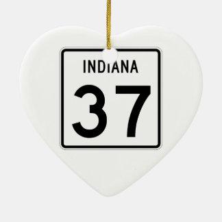 インディアナの州の道37 セラミックオーナメント