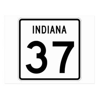 インディアナの州の道37 ポストカード