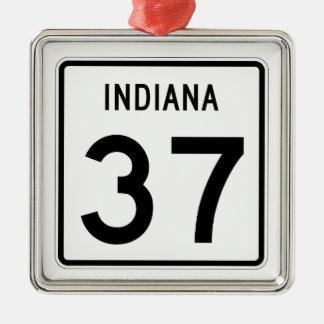 インディアナの州の道37 メタルオーナメント
