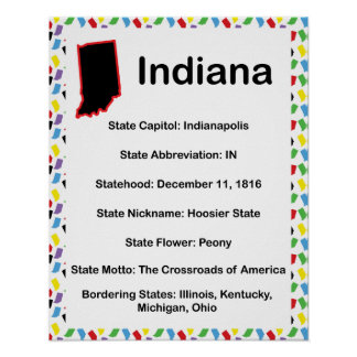 インディアナの情報の教育 ポスター
