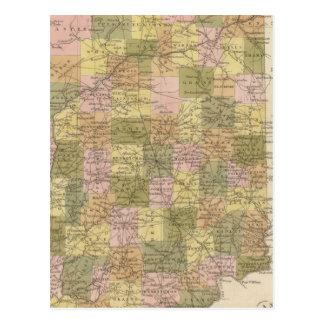 インディアナの新しい地図 ポストカード