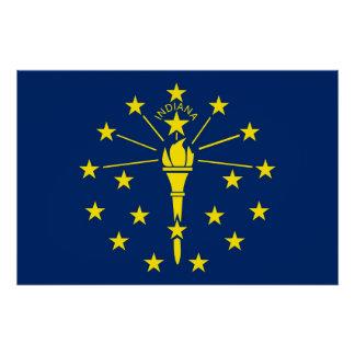 インディアナの旗が付いている愛国心が強い壁ポスター ポスター