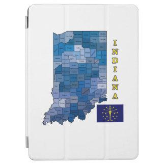 インディアナの旗そして地図 iPad AIR カバー