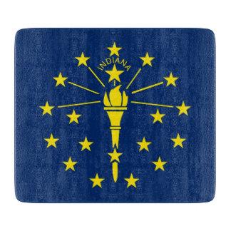インディアナの旗を持つ小さいガラスまな板 カッティングボード
