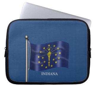 インディアナの旗 ラップトップスリーブ