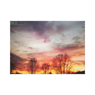 インディアナの日没 キャンバスプリント