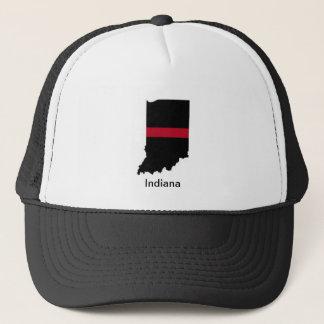 インディアナの消防士の薄い赤線トラック運転手の帽子 キャップ