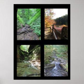 インディアナの自然な驚異ポスター ポスター